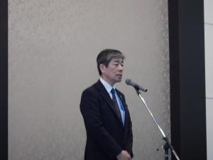 ご祝辞をおっしゃる長崎県土木部技監 藤田雅雄様