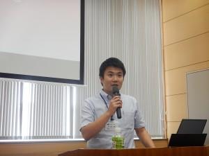 講演を行う、長崎県土木部河川課河川防災班 山口技師 様