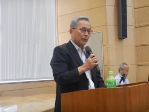 丙かい挨拶を行う(一社)長崎県地質調査業協会 桐原 理事長 様